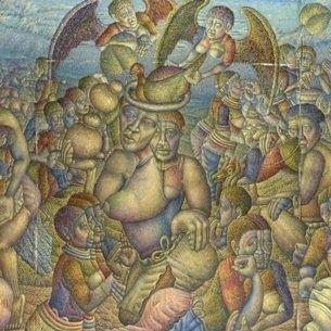 mmakgabo helen sebidi, everard read cape town, everard read, art gallery, art exhibition, cape town art, art galleries cape town, south african, south african artists, artwork, paintings, traditional, mixed media, rural,