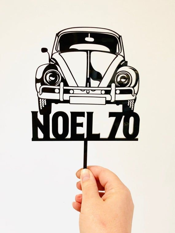 VW BEETLE CAR EDIBLE ICING CAKE TOPPER MANY SIZES