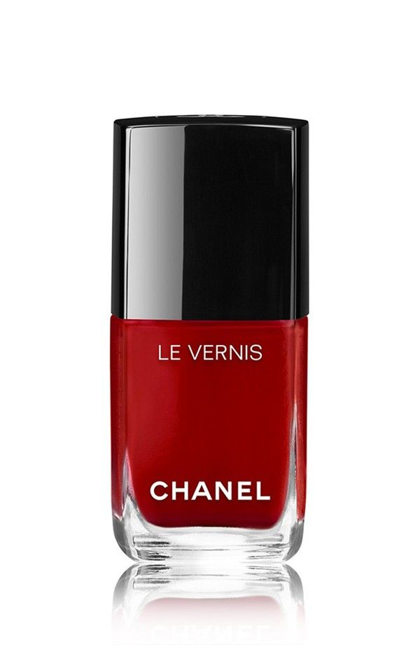Red polish.