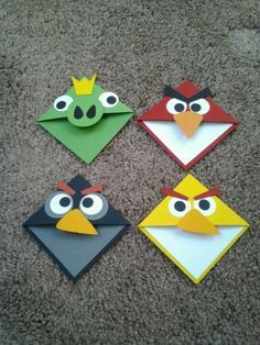 Angry bird book marks.  Cut with Sihouette SD