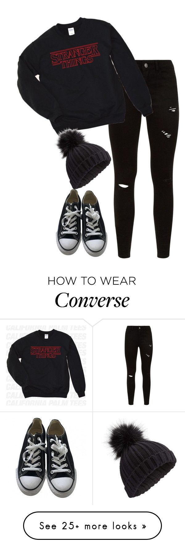 """Day 8 of Christmas (2017)"" by demiwitch-of-mischief on Polyvore featuring Converse and Miss Selfridge"