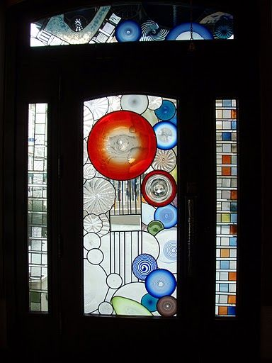 stained glass window in Yakima,WA -- looks like my fathers' stained glass creations.