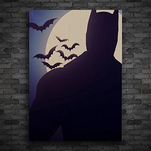 Batman Painting Canvas, Original Art, Colorful Picture, Wall Decor, Home Design Vinyl Evolution
