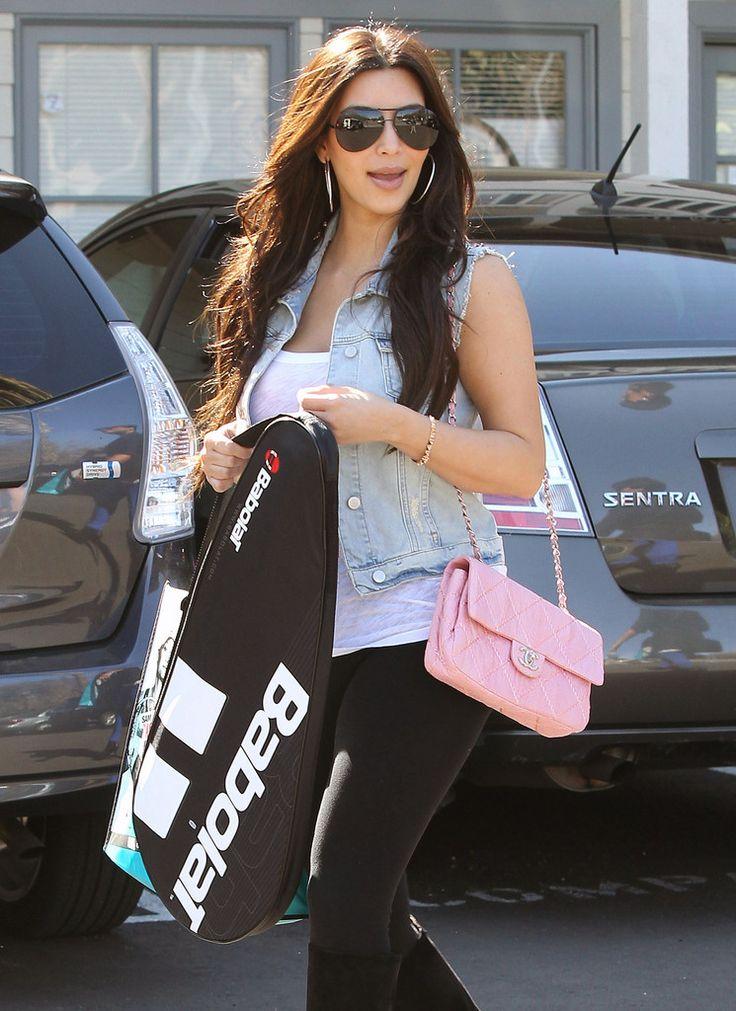 Kim Kardashian Quilted Leather Bag - Kim Kardashian Looks - StyleBistro