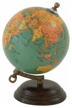 Wood Metal Globe traditional-world-globes