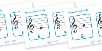 Treble Clef Musical Note Cards - treble clef, musical note, musical note cards…