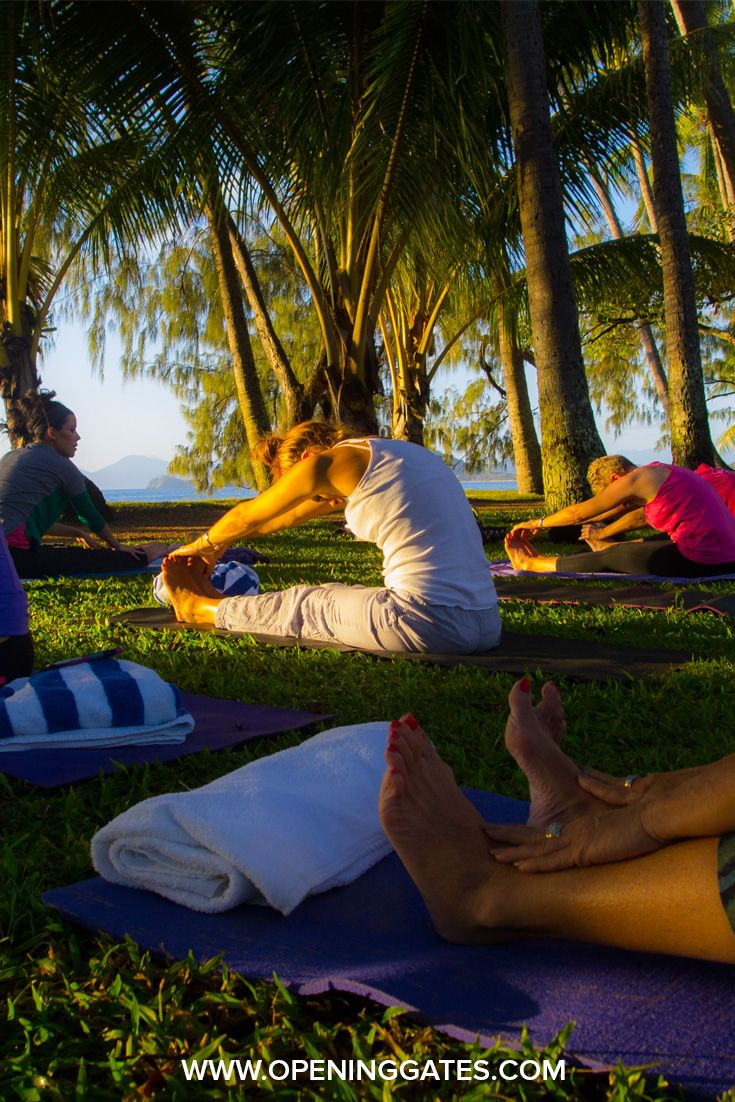 Stretch it out! We love our beach side Yoga at our LIFE by DESIGN Retreats.