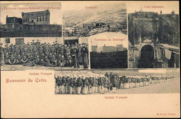 French troops in Canea