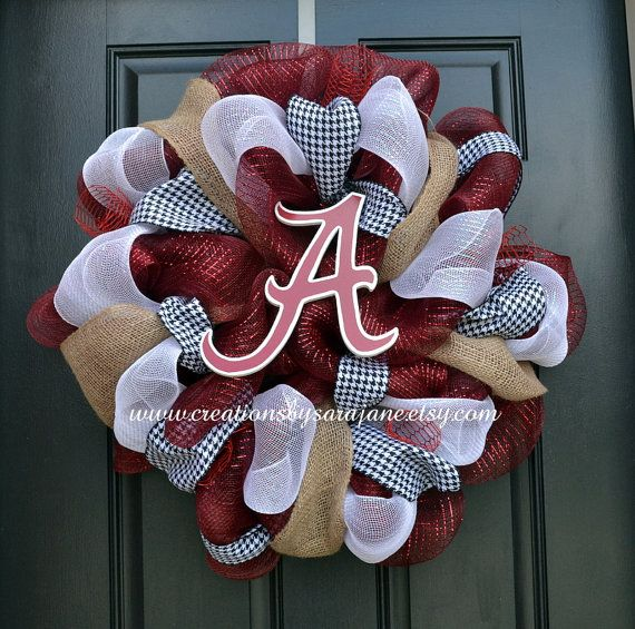 University of Alabama Wreath - Roll Tide Wreath - Collegiate Wreath on Etsy, $85.00