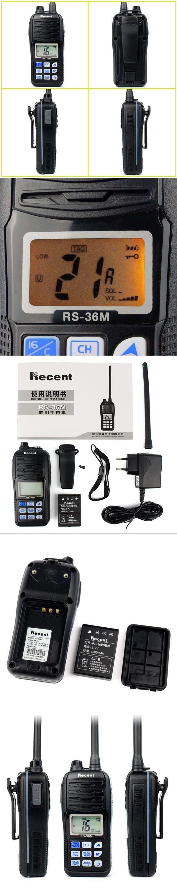 Float'n Marine VHF Radio Walkie Talkies RS-36M WaterProof IP67 interphone Handheld emergency Transceiver transmitter