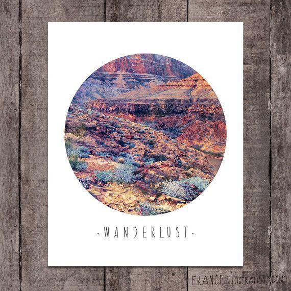 WANDERLUST Wall Art /// Abstract Landscape by FRANCEillustration, $6.00