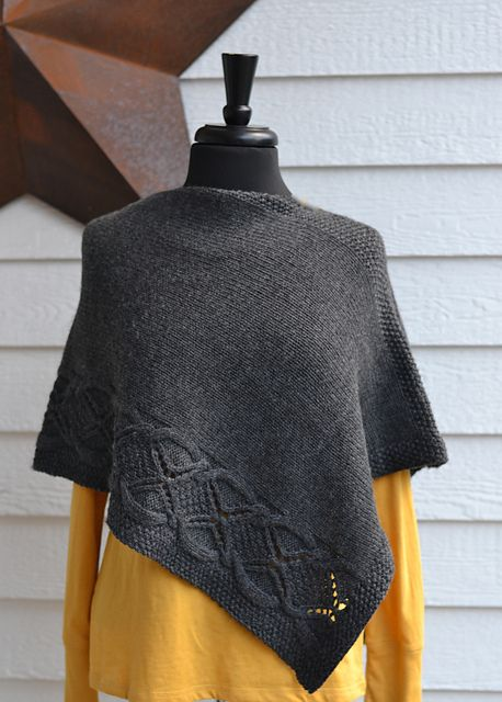 Ravelry: Wanda Estelle pattern by Debbi Stone  Think this could work with any rectangular piece with a border design and the right proportions