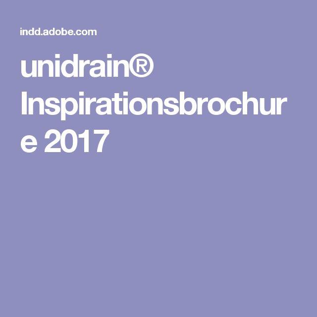 unidrain® Inspirationsbrochure 2017