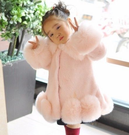 NEW FASHION CHILDREN WINTER COAT GIRL FAUX MINK FUR COAT FOX FUR COAT THICK WARM OVERCOAT FOR GIRL
