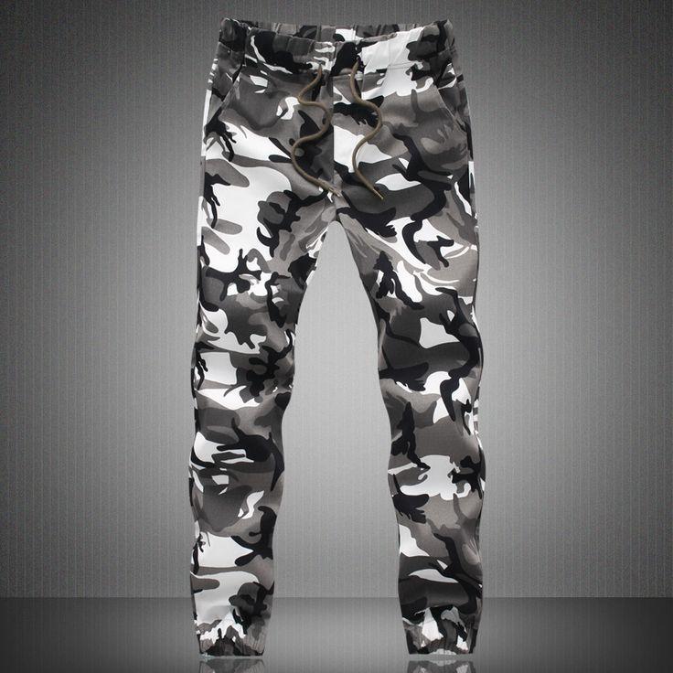 2016 HOT Dnine autumn army fashion hanging crotch jogger pants patchwork harem pants men crotch big Camouflage pants trousers