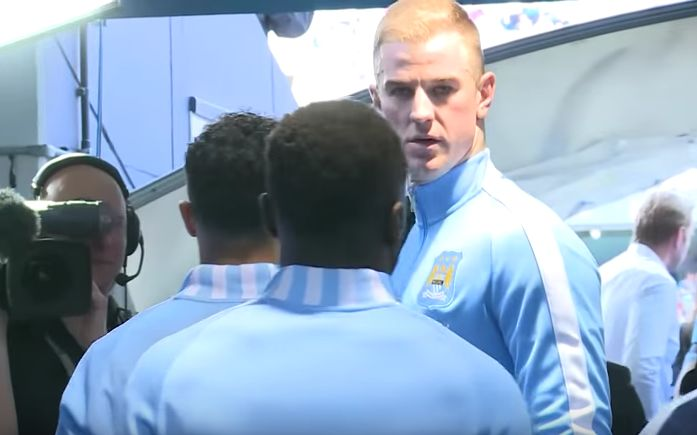 Tunnel cam: Captain Joe Hart gave impromptu team talk in tunnel pre Man City v Arsenal (Video)