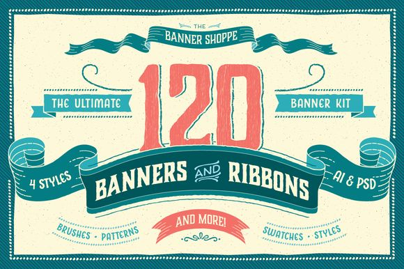 The Banner Shoppe-Intro Offer [-25%] by Ornaments of Grace on Creative Market