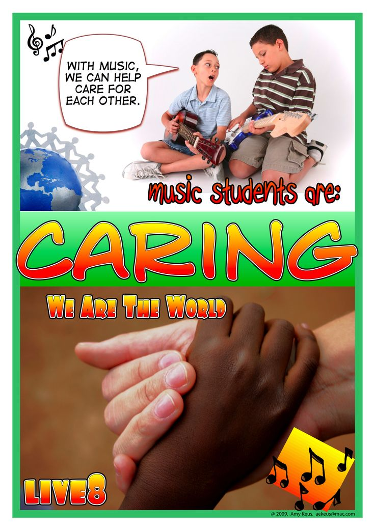 Caring. Designed by Amy Keus. A freebie from http://www.ibomusicalvoyage.com/posters--graphics.html