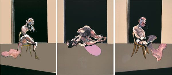 Francis Bacon - Triptych - August 1972, 1989, Lithograph