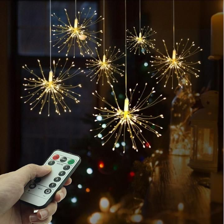 LED Fairy Garland Twinkle String Lights Waterproof 8 Modes With Remote Christmas