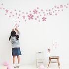 46 Flower Bedroom Kitchen Bathroom Furniture Wall Stickers Decal S-pink