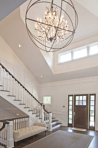 Traditional Foyer Xl : Wainscott south traditional hall bh entryway home