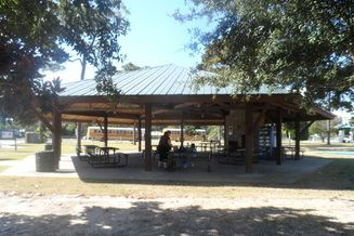 Pavilion (Located at Frank Brown Park) Great for birthday parties and family reunions  Seating for approximately 60 people Available for rent from 10am-2pm, 3pm-7pm or all day 10am-7pm Rate for four hour slot is $50 plus tax  Rate for all day/8 hours is $100 plus tax  There is a small charcoal grill located next to the pavilion  Please call 850-233-5045 to check availability