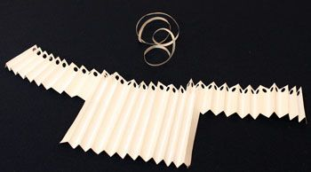 Easy Angel Crafts Accordian Folded Paper Angel Ornament Step 8 overlap edges