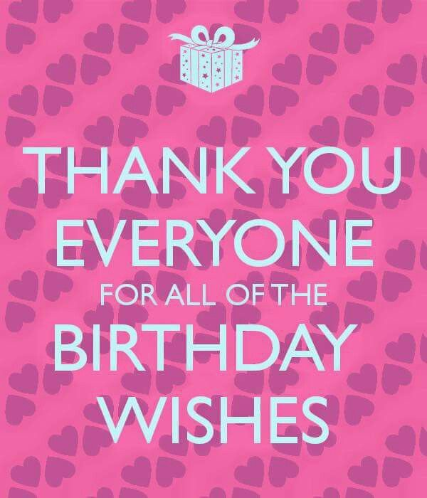 17 Best Ideas About Thanks For Birthday Wishes On Thank You For Happy Birthday Wishes Quotes