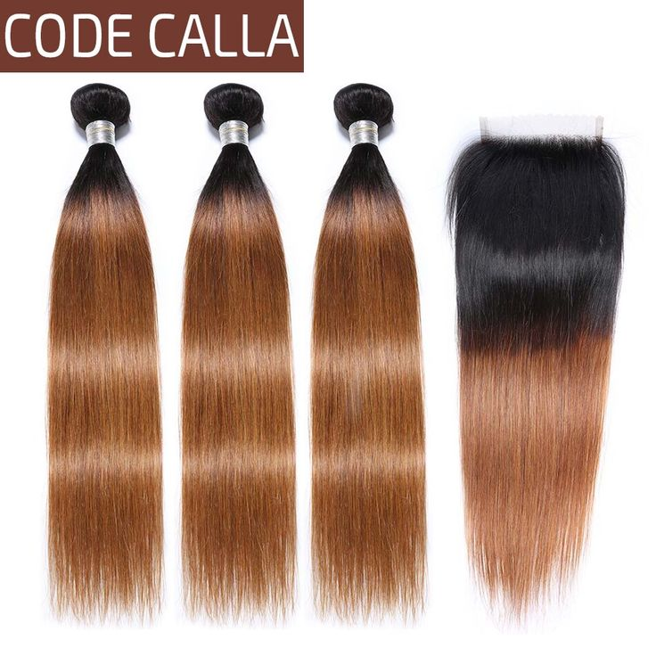 Code Calla Ombre Color Straight Hair Bundles With …
