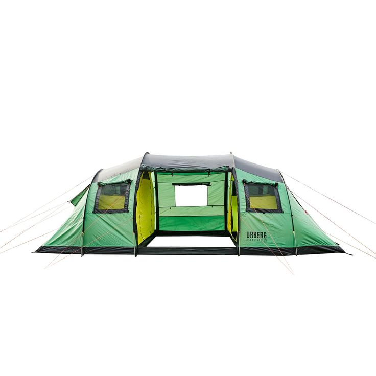6-personers tunnel telt er et stort telt, der er egnet til camping. To indertelt med plads til tre personer i hver. Teltet har en stor apsis med ståhøjde og gode ventilations muligheder.