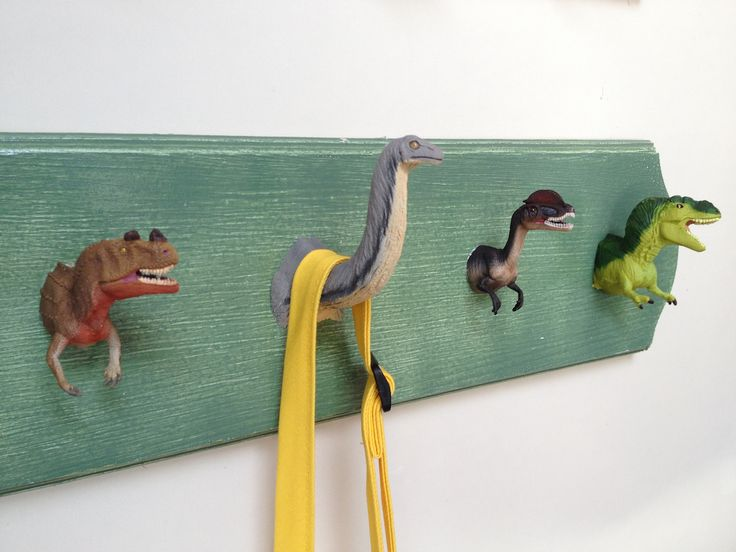 dinosaur bathroom idea Creative Coat Hooks DIY - Home & Family