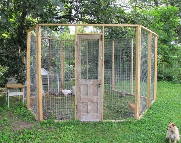 Here S A Simple Chicken Coop With No Roof Easy Chicken Coop Chicken Coop A Frame Chicken Coop
