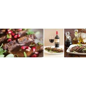 Brasato al Vino Rosso (beef braised in red wine) with Terra del Capo Arné