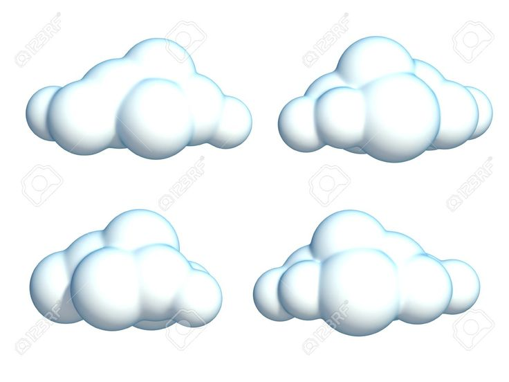 46265422 conjunto de nubes de dibujos animados foto de 1300 975 dibujos - Imagenes de nubes infantiles ...