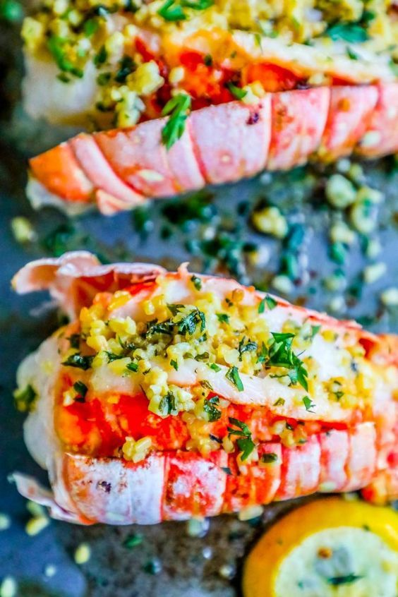 Easy and delicious 10 Minute Garlic Butter Broiled Lobster Tails is the best oven baked lobster tail recipe - just bursting with garlic and lemon flavor in just one pot for an easy romantic dinner that tastes like an expensive steakhouse! This is the best lobster tail recipe ever and is incredibly delicious with almost no work, plus works in a whole 30 diet or a keto diet for a low carb romantic dinner!