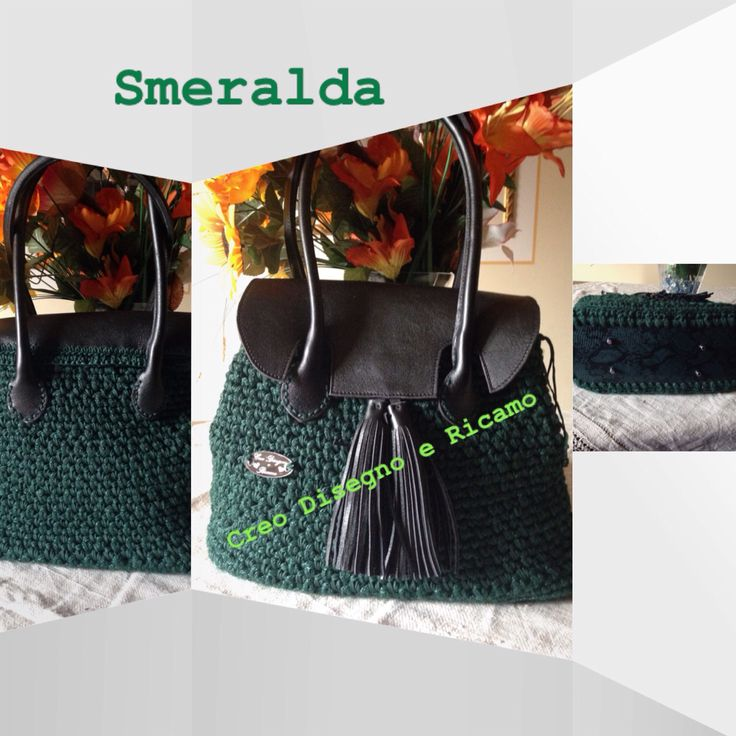 Mod.Smeralda , accessori in vera pelle , eseguita con cordino Winter e cordino Bingo. Possibilità di avere il kit , o di ordinarla in tanti colori contattatemi