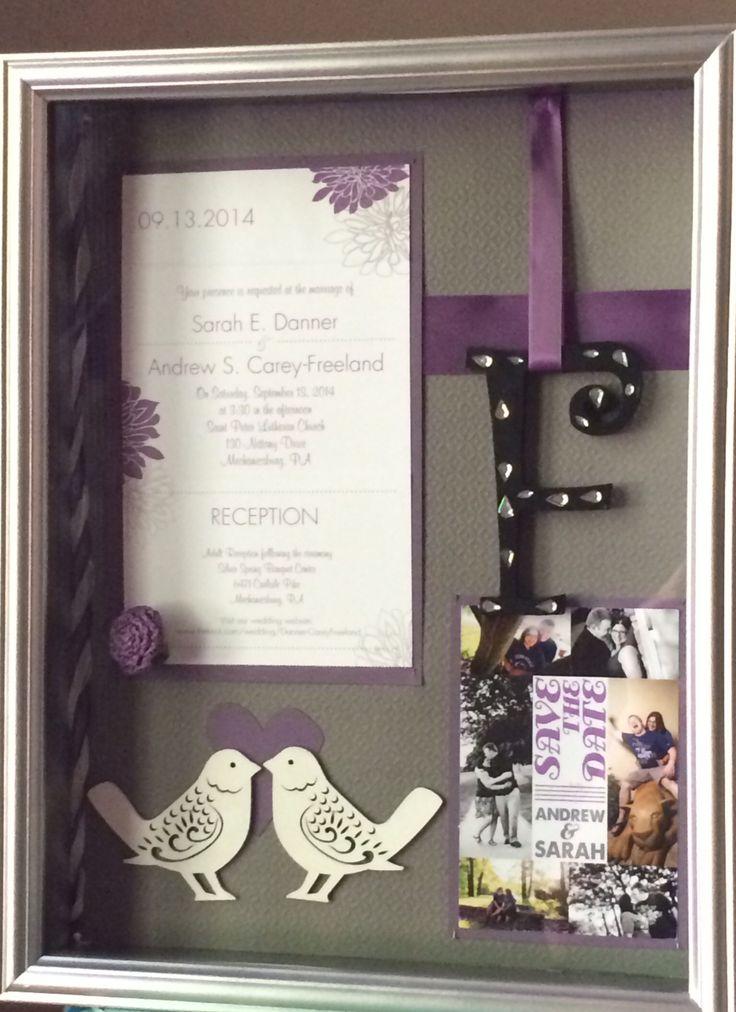 Wedding invitation shadow box. @sed5035