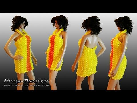Balloon dress, fashion, art, decoration, Ballon Kleid, Mode, Kunst, Luftballon, Dekoration - YouTube