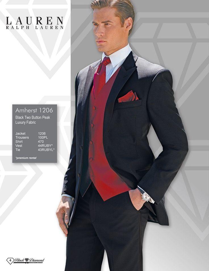Ralph Lauren Amherst Black Two Button Peak Luxury Fabric