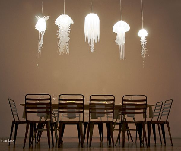 The Jellyfish Lamps by Roxy Russel Design add a little underwater-inspired illumination to your space. Each lamp is made from eco-friendly materials including translucent mylar and, although quite expensive, a portion of the profits from sales will be donated to The Ocean Conservatory.