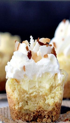 ... . To die for!!! Coconut Cream Pie Cookie Cups #food #recipe #coconut