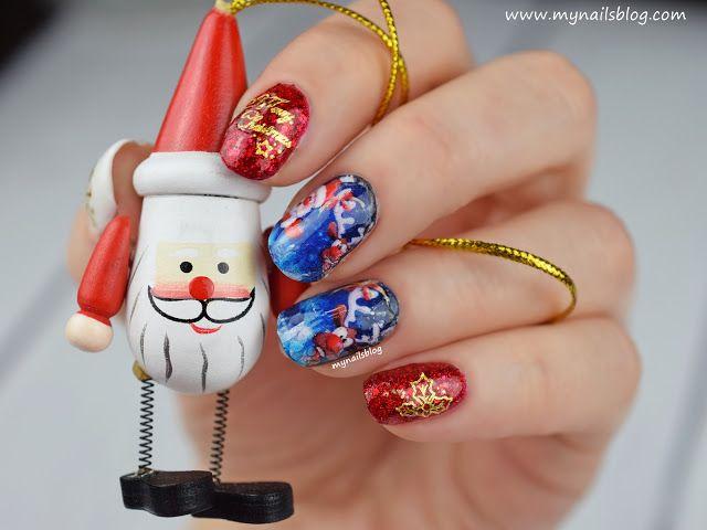 My nails blog: Gwiazdka 2017 - świąteczne zdobienie