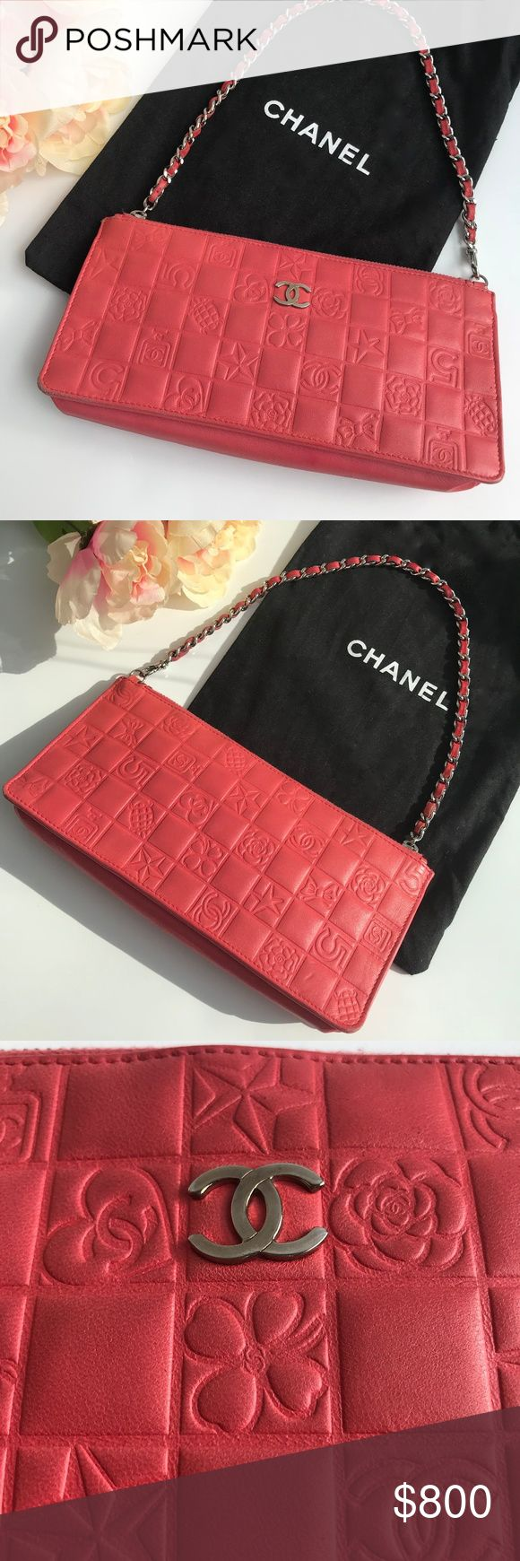 Chanel wallet on chain pink pocketbook purse Bubble gum pink Authentic Chanel pocketbook / wallet on chain. Has some minor wear and tear around the outside edges (pictured) but otherwise in great condition. Measurements: 8.75 inches x 4 inches x 1 inch thick at the base of the purse. CHANEL Bags Mini Bags
