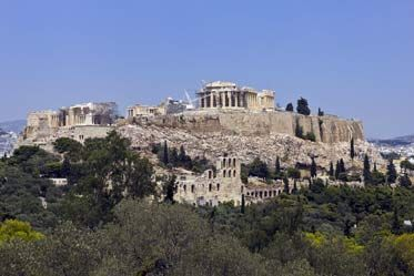 Akropolis tepesi Atina Yunanistan