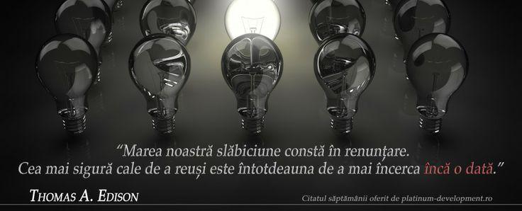 Renuntarea – Thomas Edison