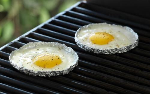 Œufs au plat grillés