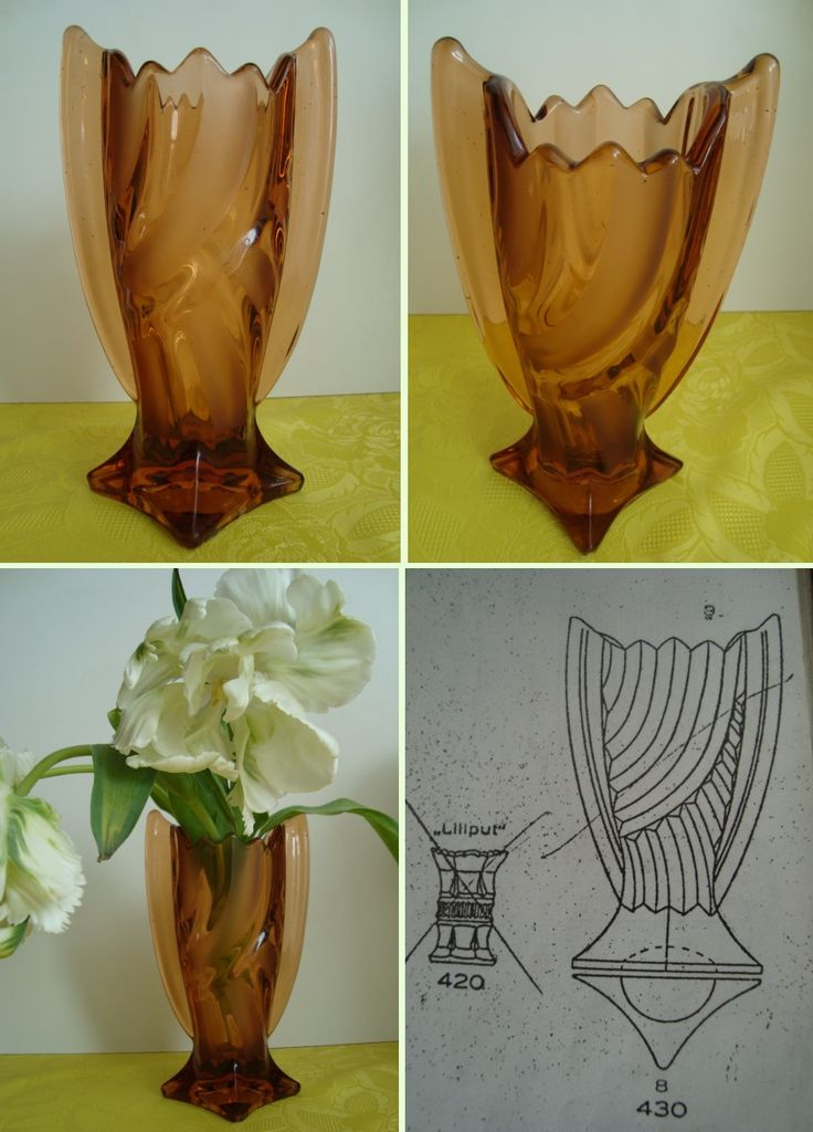 Katalogowany wazon Huta Hortensja Art Deco