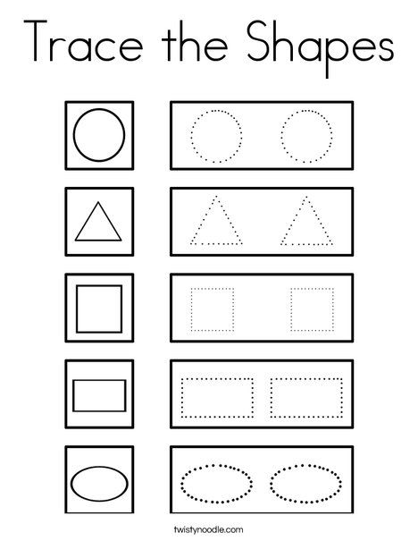 shapes coloring pages for preschool - photo#22