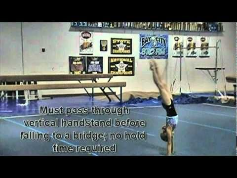 USAG/ AAU Gymnastics Level 4 Floor Routine Tutorial, for Addison